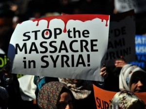 stop the massacre in syria