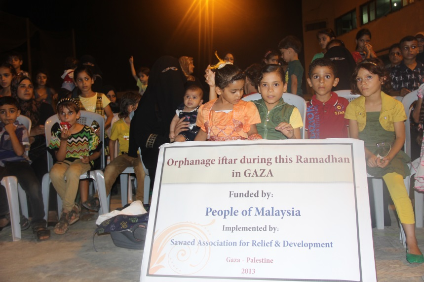 orphans iftar in GAZA